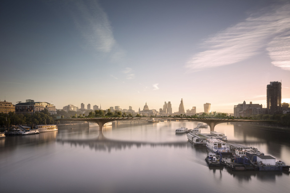 Bridge - Thomas Heatherwick - Garden Bridge, image copyright: Arup