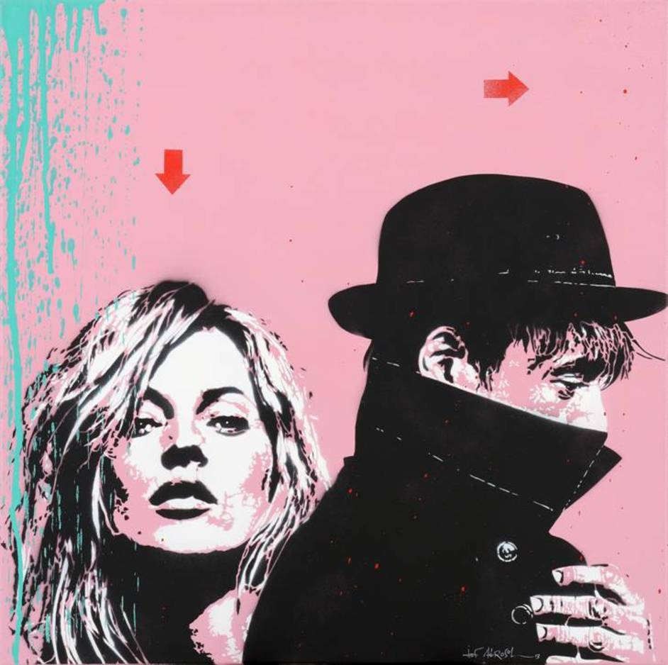 20/21 International Art Fair - Jef Aerosol (b. 1931) ?Kate & Pete? From The French Art Studio.