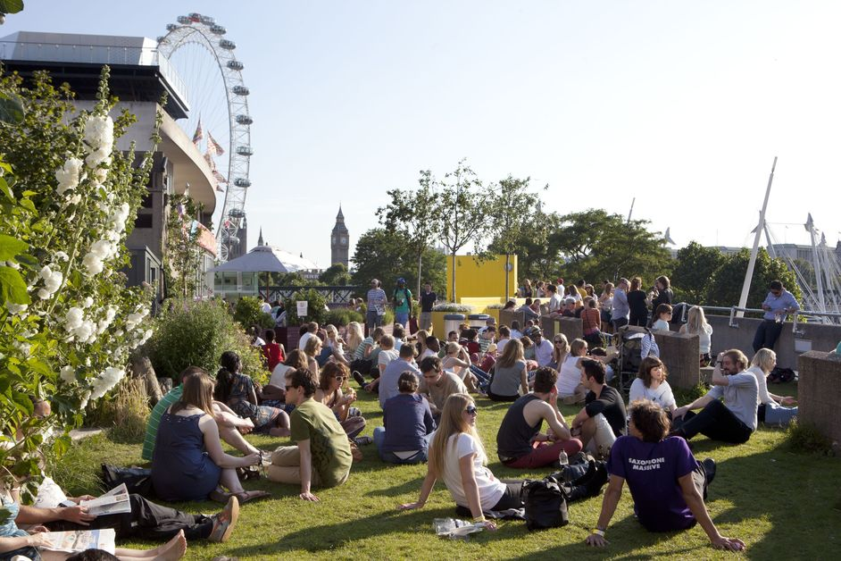 Summertime - Southbank Centre's Roof Garden on the Queen Elizabeth Hall, photo: Belinda Lawley
