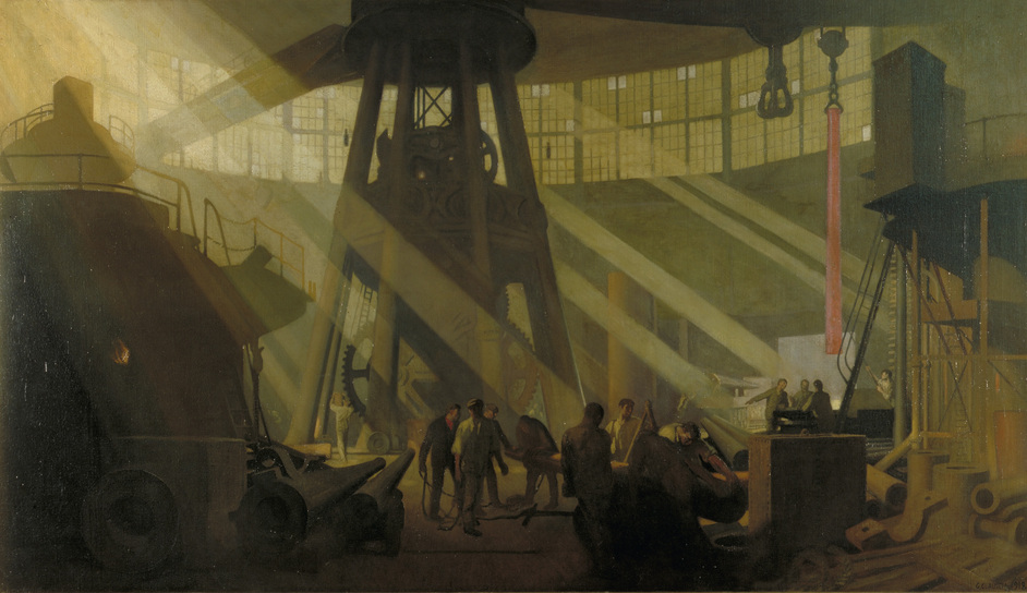 Truth and Memory: British Art of the First World War - George Clausen, In the Gun Factory at Woolwich Arsenal, 1918 (c)IWM