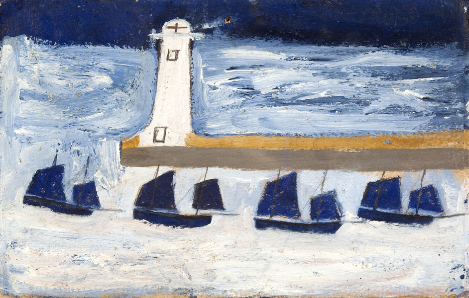 Art and Life: Ben Nicholson, Winifred Nicholson, Christopher Wood, Alfred Wallis, William Staite Mur - Alfred Wallis, Four luggars leaving a harbour, MIMA