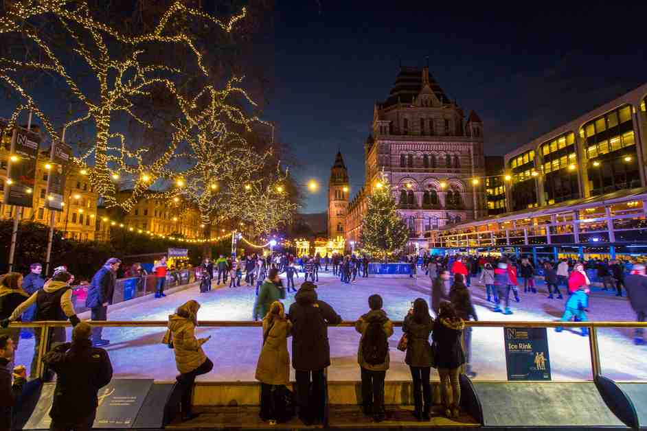 Natural History Museum Ice Rink - Copyright NHM, London