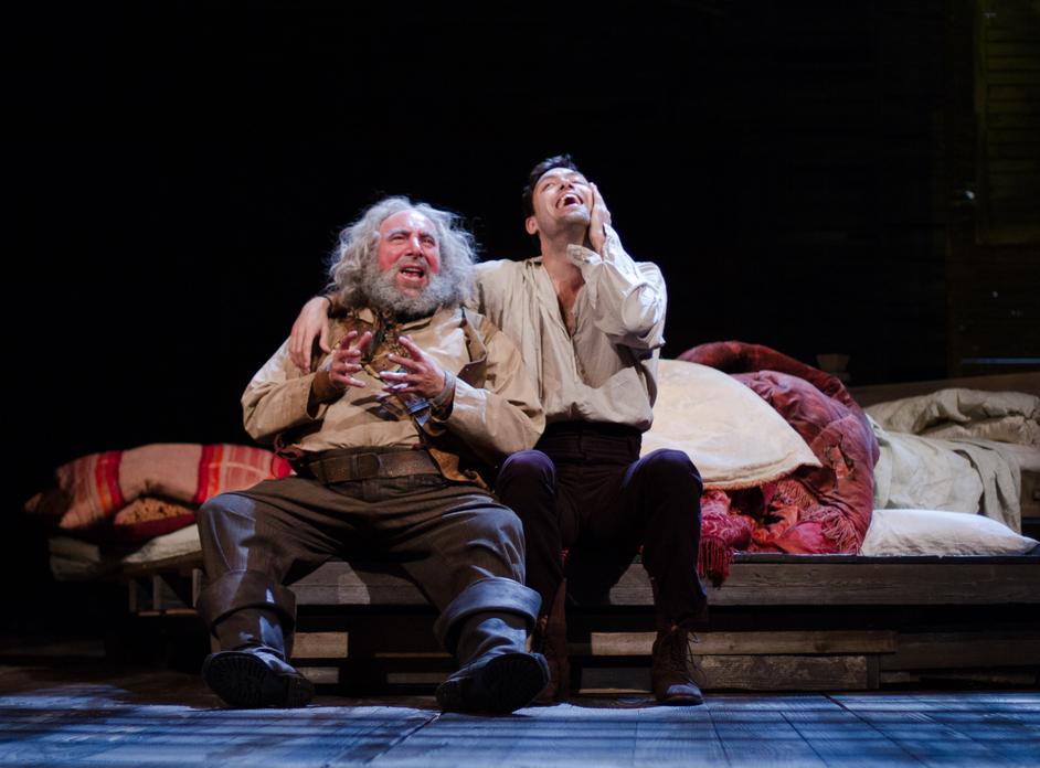 Henry IV (Part I) - Antony Sher (Sir John Falstaff) and Alex Hassell (Prince Hal), copyright: RSC