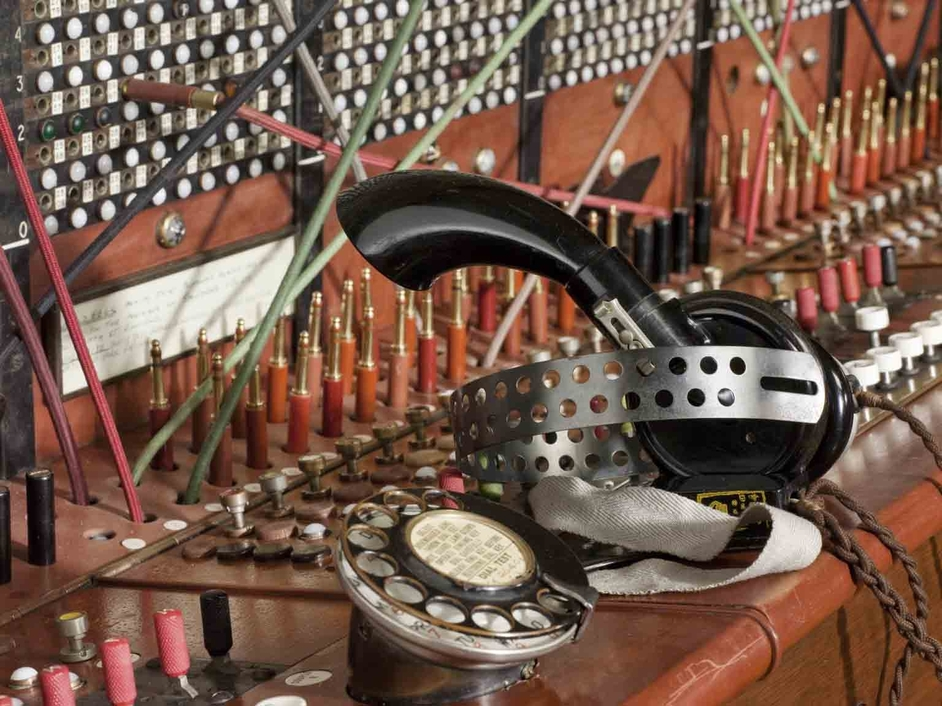 Information Age - Enfield switchboard, close up view, Science Museum