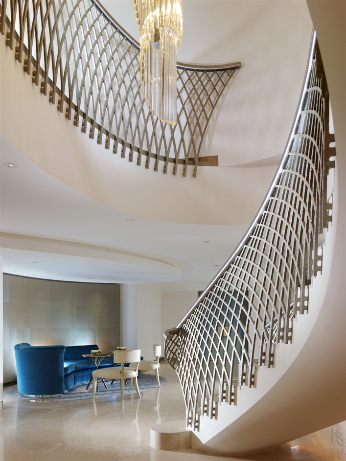 The Dorchester Hotel - Crystal Suite staircase