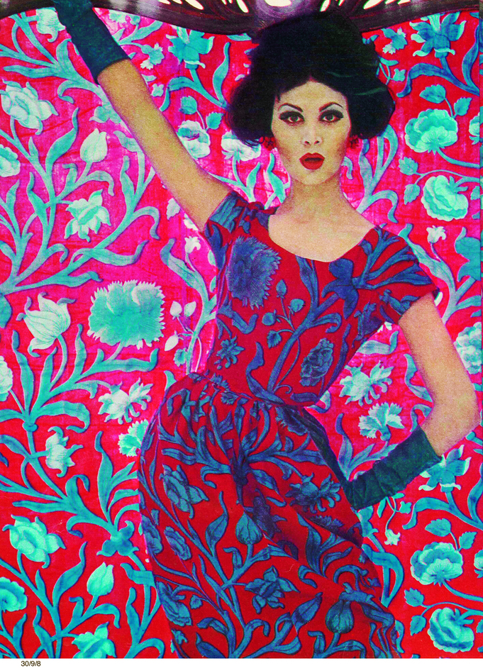 Liberty In Fashion - Art Nouveau fashion using 'Constantia', 1961 (c) Liberty London