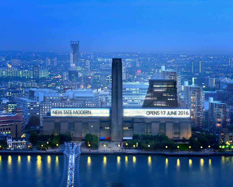 New Tate Modern Opens - The New Tate Modern, image: Hayes Davidson and Herzog de Meuron