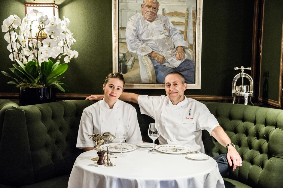 Le Gavroche - Michel Roux Jr - Michel Roux Jr and daughter Emily Roux