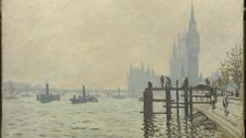 Inventing Impressionism - Claude Monet, The Thames below Westminster, c.1871 by The National Gallery, London