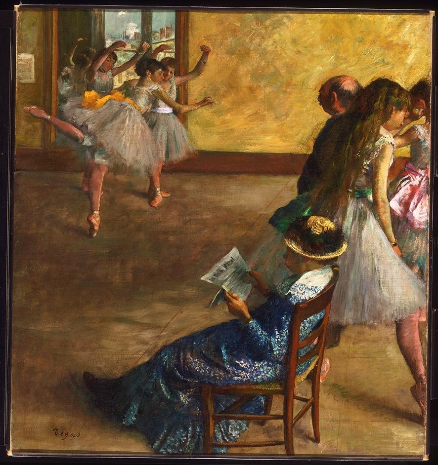 Inventing Impressionism - Hilaire-Germain-Edgar Degas, The Ballet Class, c.1880 (c)Philadelphia Museum of Art