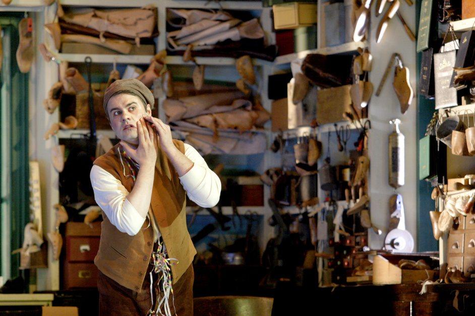English National Opera: The Mastersingers of Nuremberg - WNO Meistersinger - David (Andrew Tortise) - Photo by Catherine Cashmore