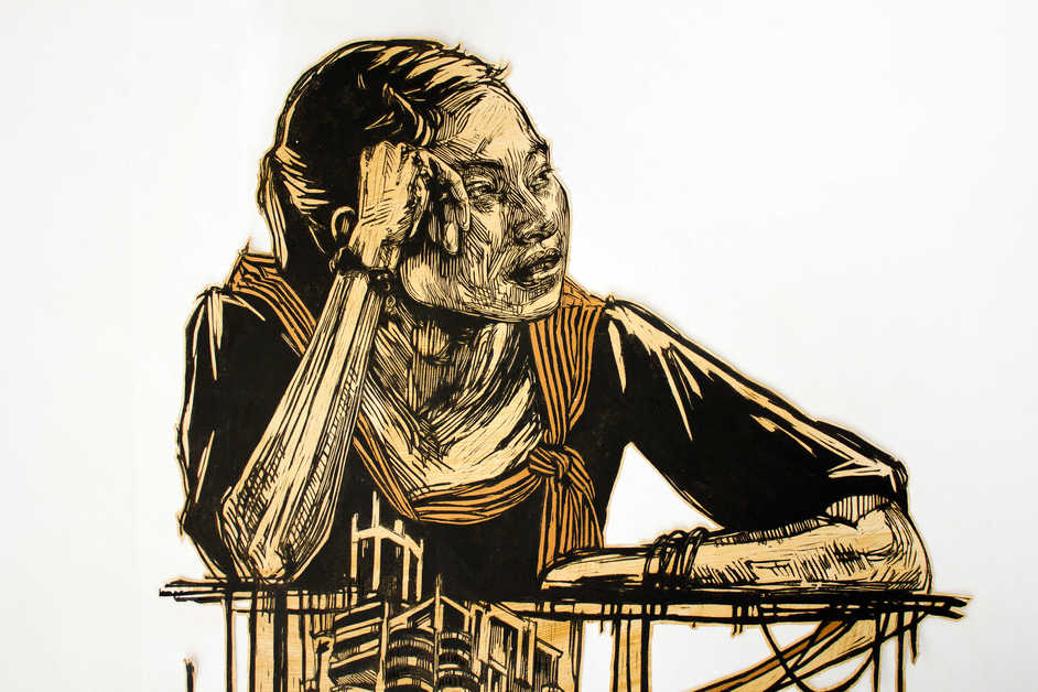 Mapping the City - Swoon, Bangkok, 2009-2012 (detail)