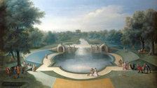 Painting Paradise: The Art Of The Garden - Studio of Marco Ricci, A View of the Cascade, Bushey Park Water Gardens, c.1715 by Her Majesty Queen Elizabeth II 2014