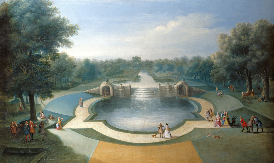 Painting Paradise: The Art Of The Garden - Studio of Marco Ricci, A View of the Cascade, Bushey Park Water Gardens, c.1715. Royal Collection Trust (c)Her Majesty Queen Elizabeth II 2014