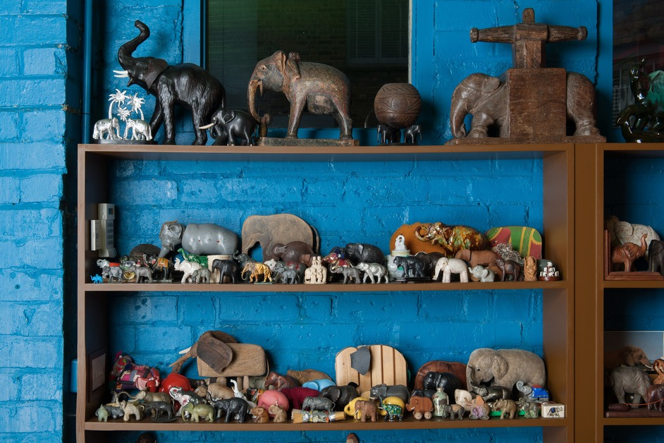 Magnificent Obsessions: The Artist as Collector - Elephants from the collection of Sir Peter Blake, (c) Hugo Glendinning