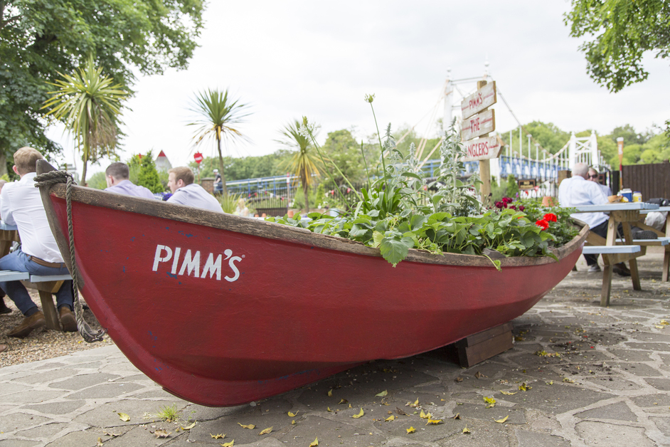 The Anglers - Pimm's Garden, summer 2015