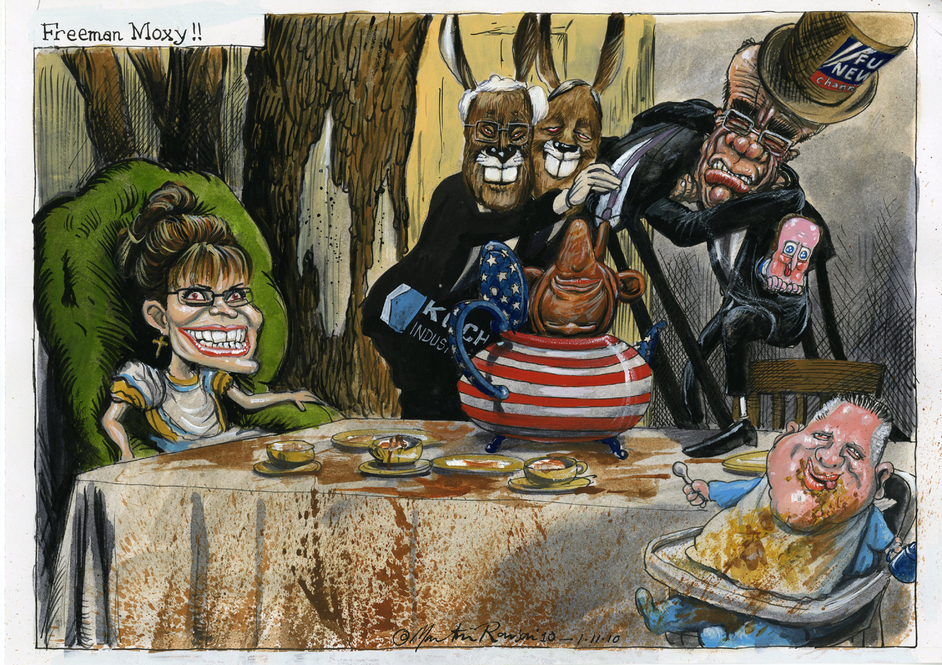 Alice In Cartoonland - Freeman Moxy - © Martin Rowson