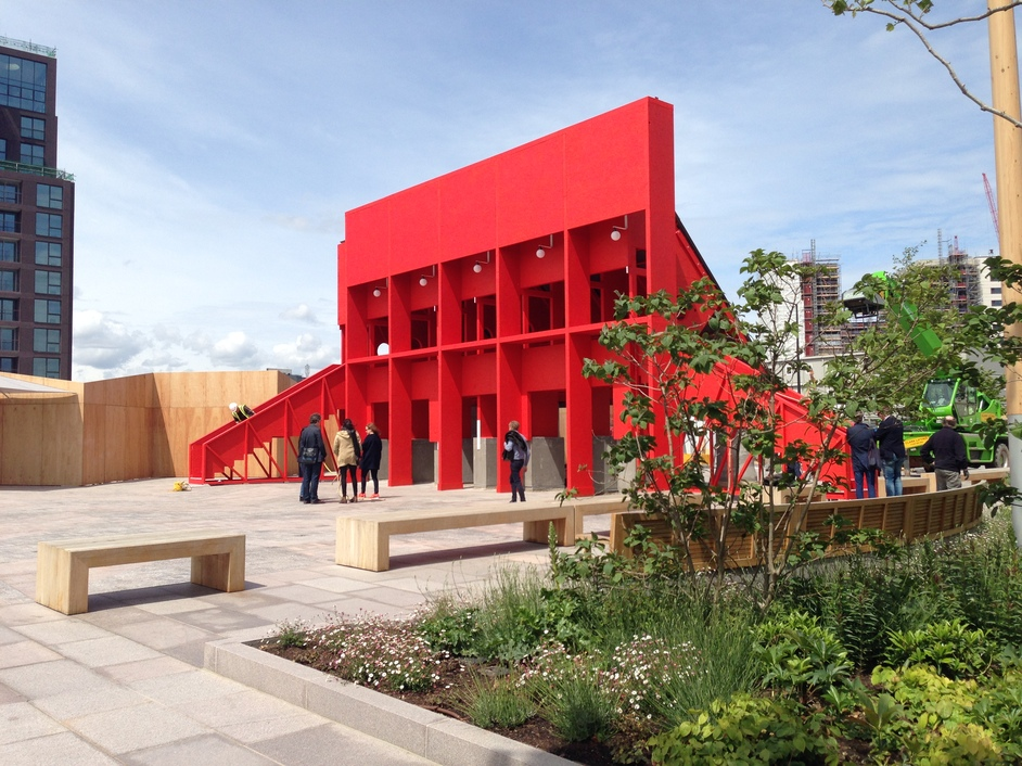 London Festival of Architecture - Pavilion by Clancy Moore, TAKA and Steven Larkin; Lewis Cubbit Square, Kings Cross