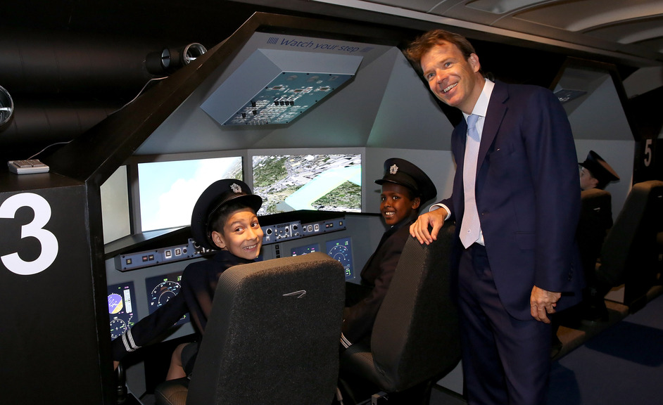 KidZania London - KidZania London Chairman Joel Cadbury in the Aviation Academy