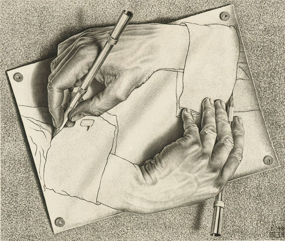 M.C. Escher - M.C. Escher Drawing Hands, 1948 (c) The M.C. Escher Company B.V.