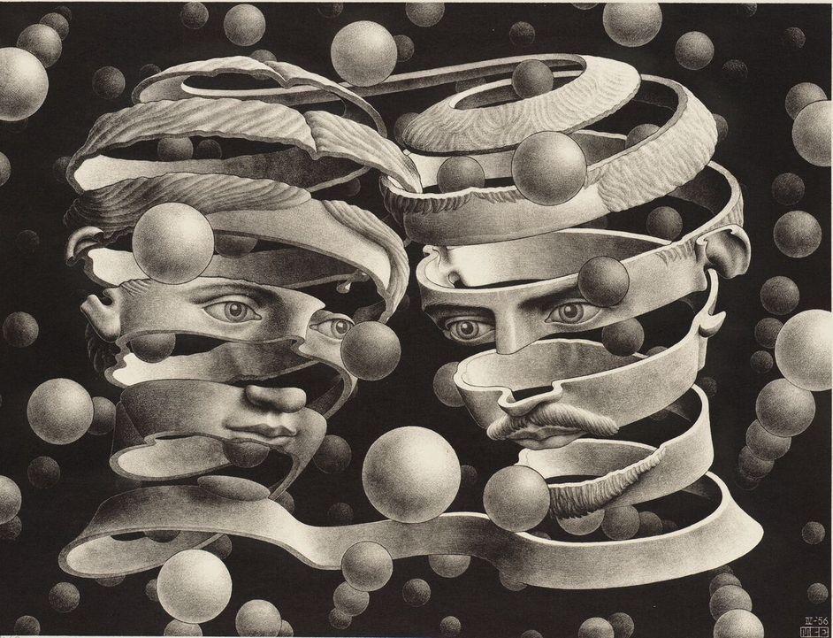 M.C. Escher - M.C. Escher Bond of Union, 1956 (c) The M.C. Escher Company B.V.