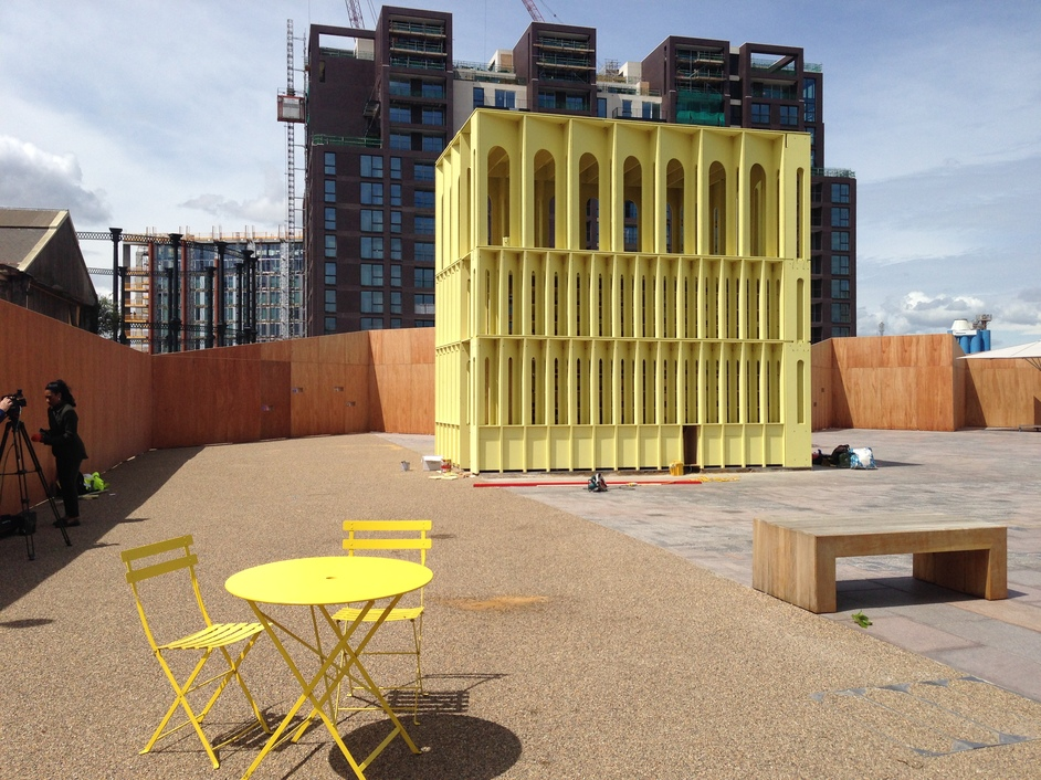 London Festival of Architecture - Pavilion by Hall McKnight, Lewis Cubitt Square, Kings Cross