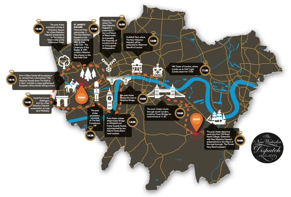 The New Waterloo Dispatch: Battle Of Waterloo Bicentenary Parade - The New Waterloo Dispatch map