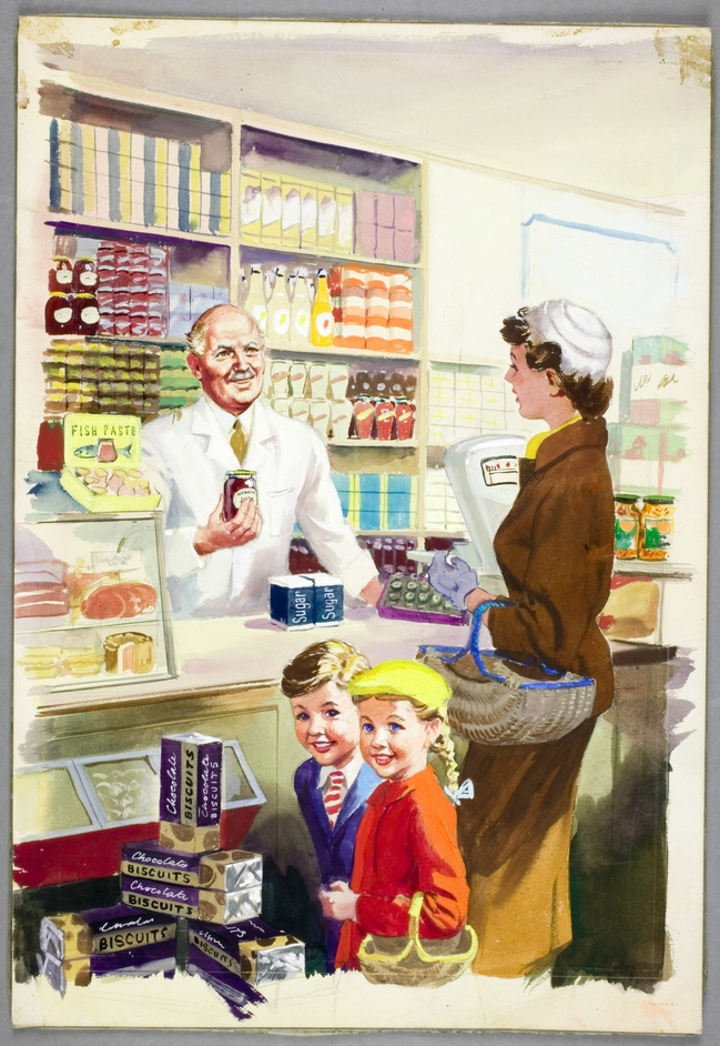 Ladybird by Design - Shopping with Mother, 1958, Harry Wingfield