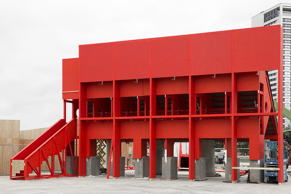 London Festival of Architecture - Red Pavilion by TAKA, Clancy Moore and Steve Larkin (c) Ed Reeve