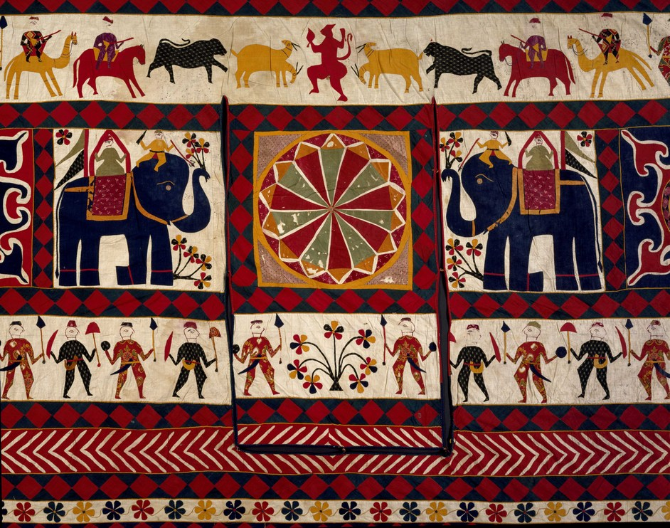 The Fabric Of India - Wall hanging. Cotton applique Gujarat for the Western market (c) V&A Museum, London