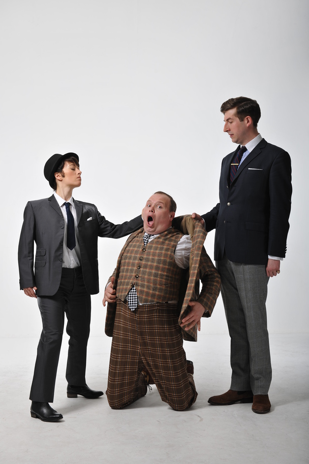 One Man, Two Guvnors - Alicia Davies and Patrick Warner and Gavin Spokes by Hugo Glendinning