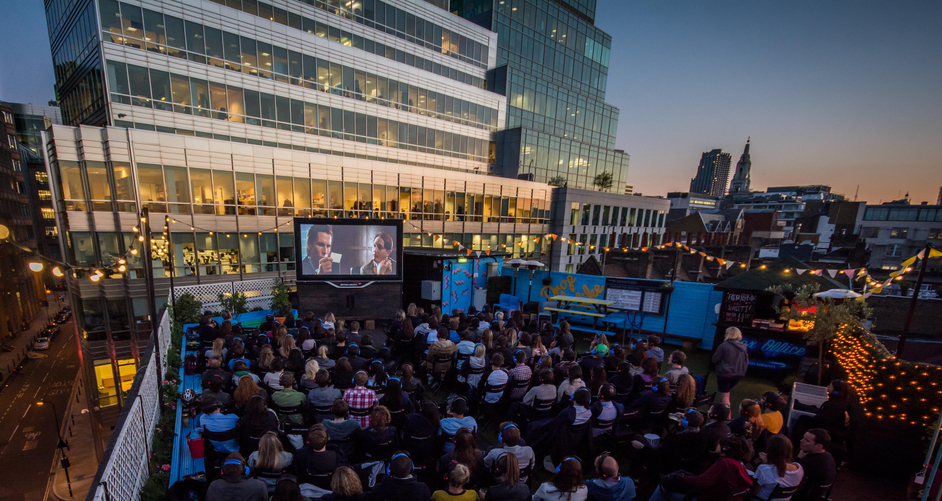 Rooftop Film Club At Queen Of Hoxton Images Shoreditch