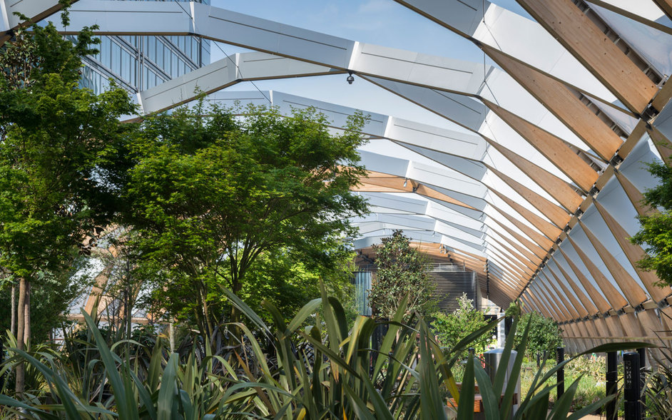 Crossrail Place Roof Garden - (c)Foster and Partners