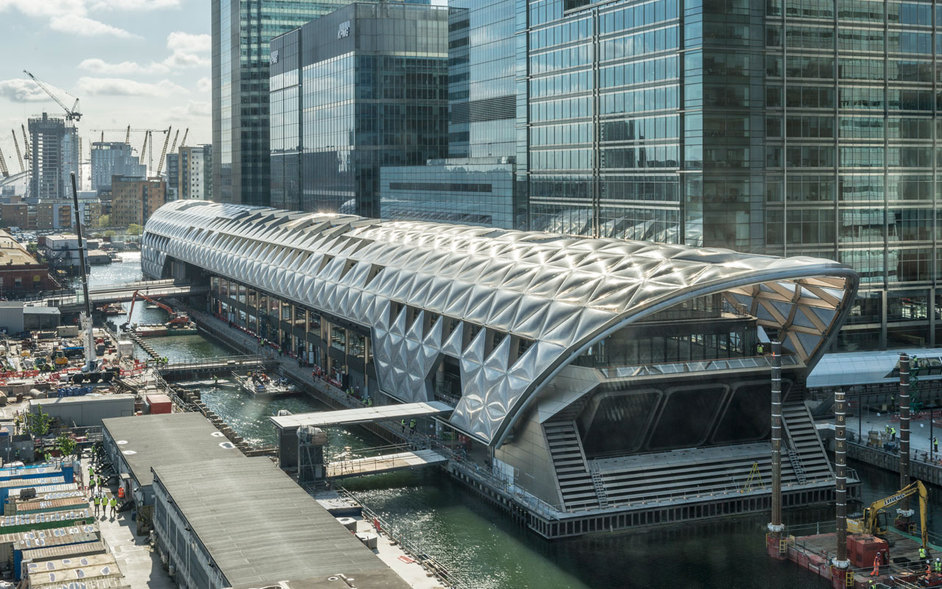 Canary Wharf Crossrail Station - (c)Foster and Partners