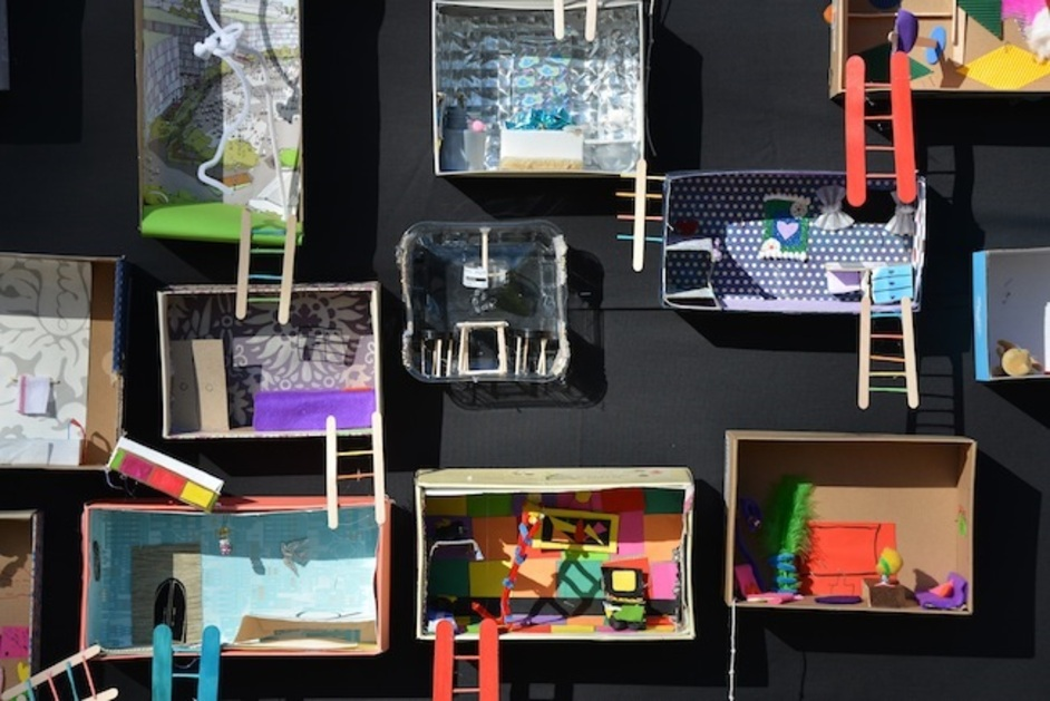 London Festival of Architecture - Giant Dolls House Project, at Shelter Cafe, will continue to grow during LFA 2015