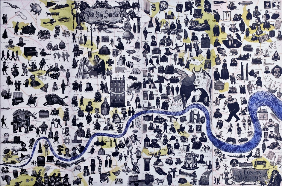 Affordable Art Fair Hampstead - A London Map of Days by Mychael Barratt