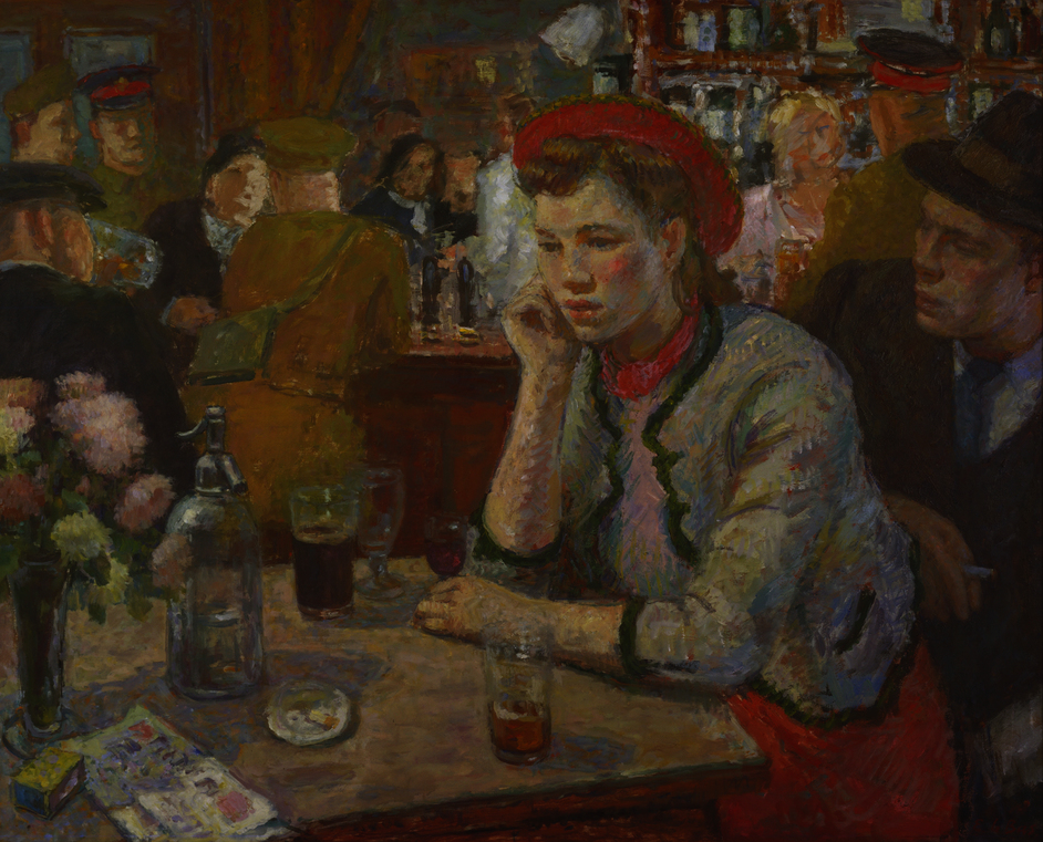 Art and Alcohol - Edward Le BasSaloon Bar 1940 Presented by the Trustees of the Chantrey Bequest 1940