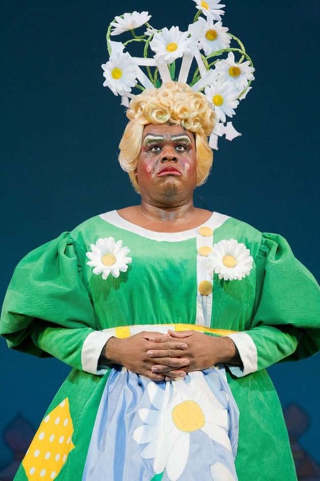 Jack And The Beanstalk - Clive Rowe in Hackney Empire's Jack and the Beanstalk, 2010, photo Bob Workman