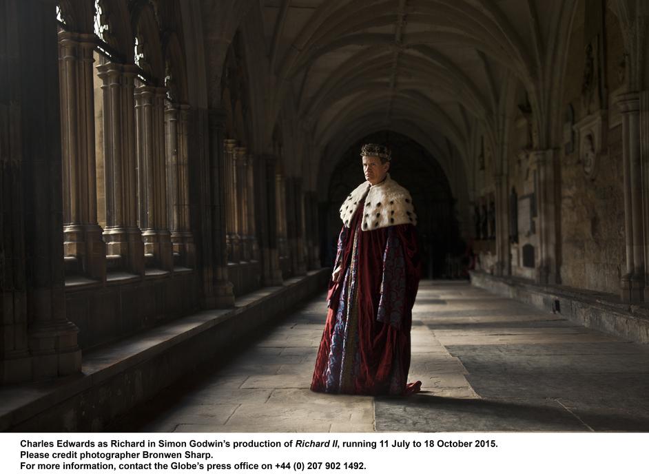 Richard II - Photographer: Bronwen Sharp (c) The Shakespeare Globe Trust, London 2015.