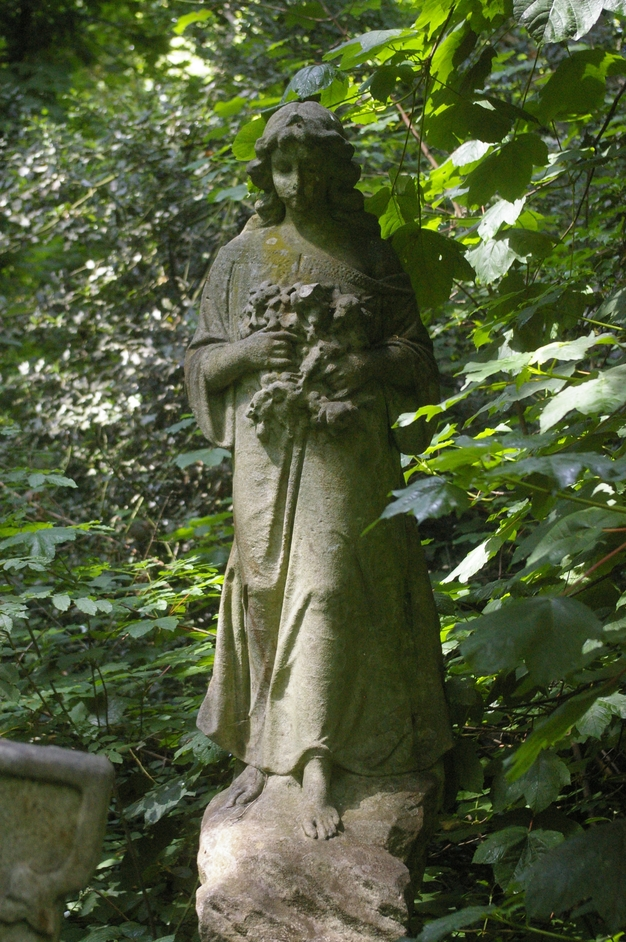 Nunhead Cemetery - Sarah Bond angel - memorial to a young wife by her husband, photo (c) Carole Tyrrell