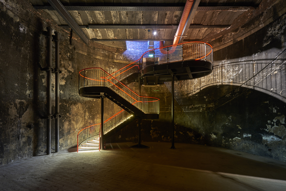 Brunel Museum - Staircase by Tate Harmer in The Grand Entrance Hall, Brunel Museum (c)Raftery   Lowe