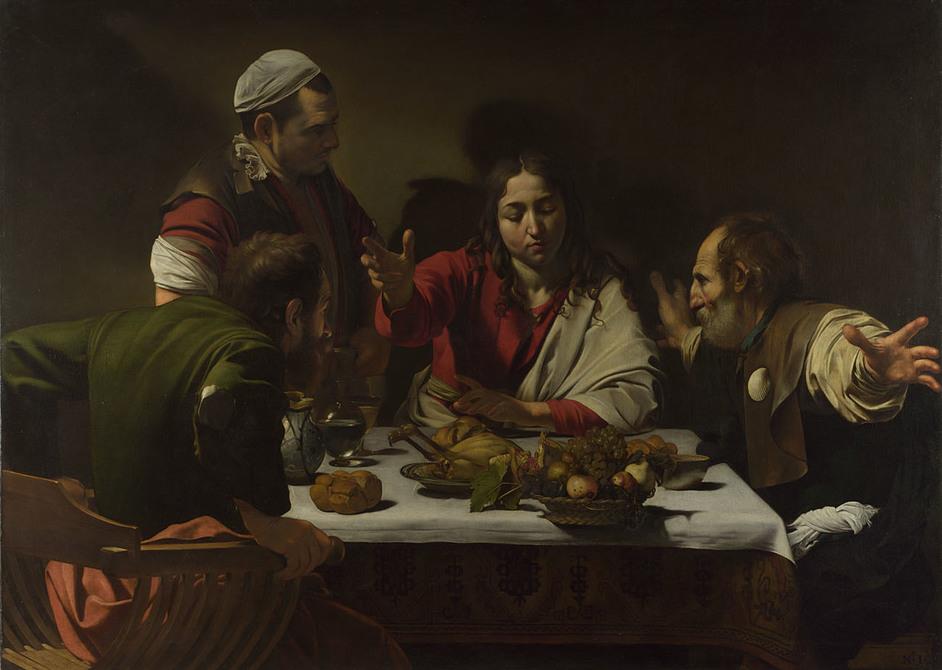 Beyond Caravaggio - The Supper at Emmaus, Michelangelo Merisi da Caravaggio, 1601 (c)National Gallery
