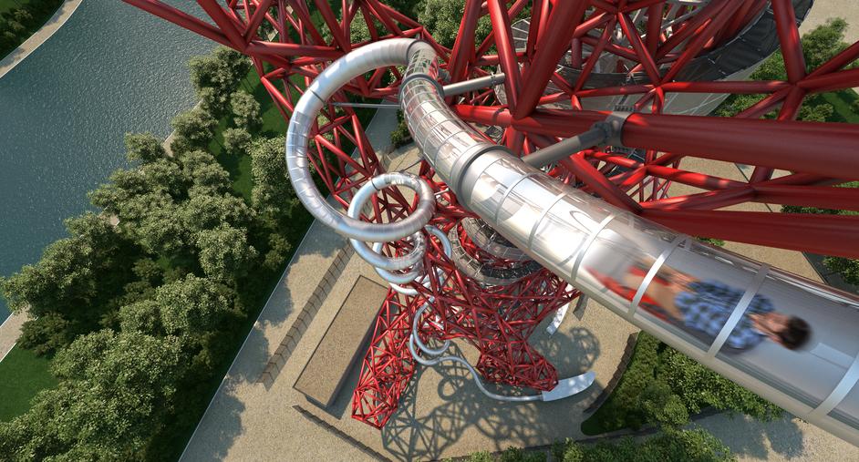 Slide at ArcelorMittal Orbit - Slide by Carsten Holler and Anish Kapoor