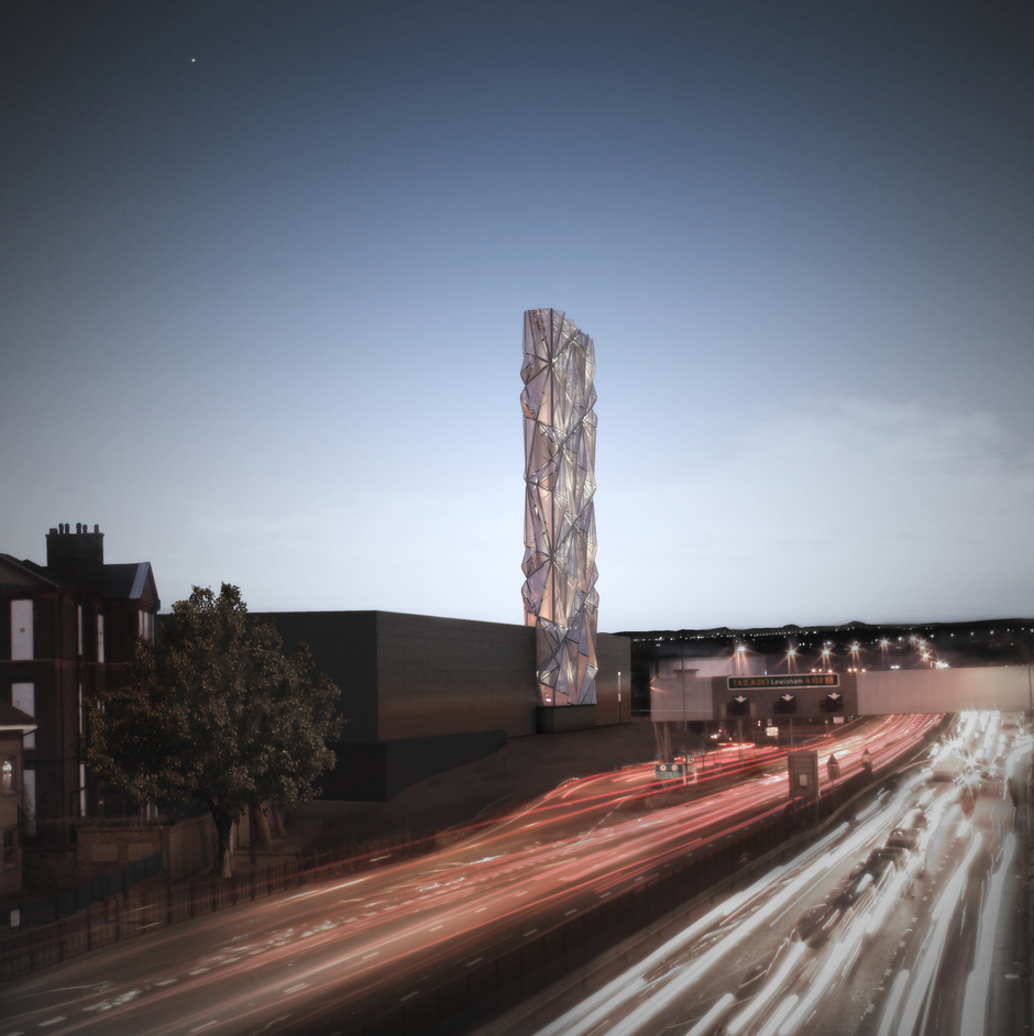 Conrad Shawcross: The Optic Cloak - Conrad Shawcross, Night Rendering of The Optic Cloak, 2015, by CF Moller