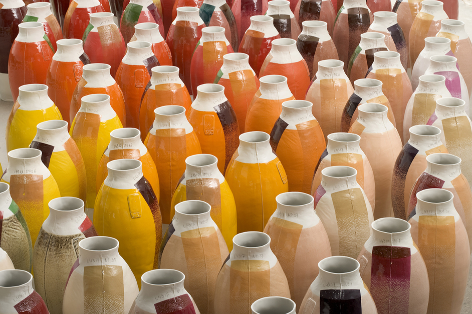 Hella Jongerius: Breathing Colour - Coloured Vases (series 3), 2010, Hella Jongerius, Photo credit - Gerrit Schreurs