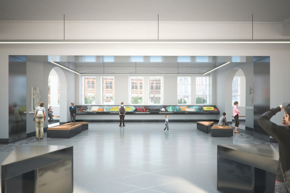 V & A Exhibition Road Project - Entrance Lobby, image (c)AL_A