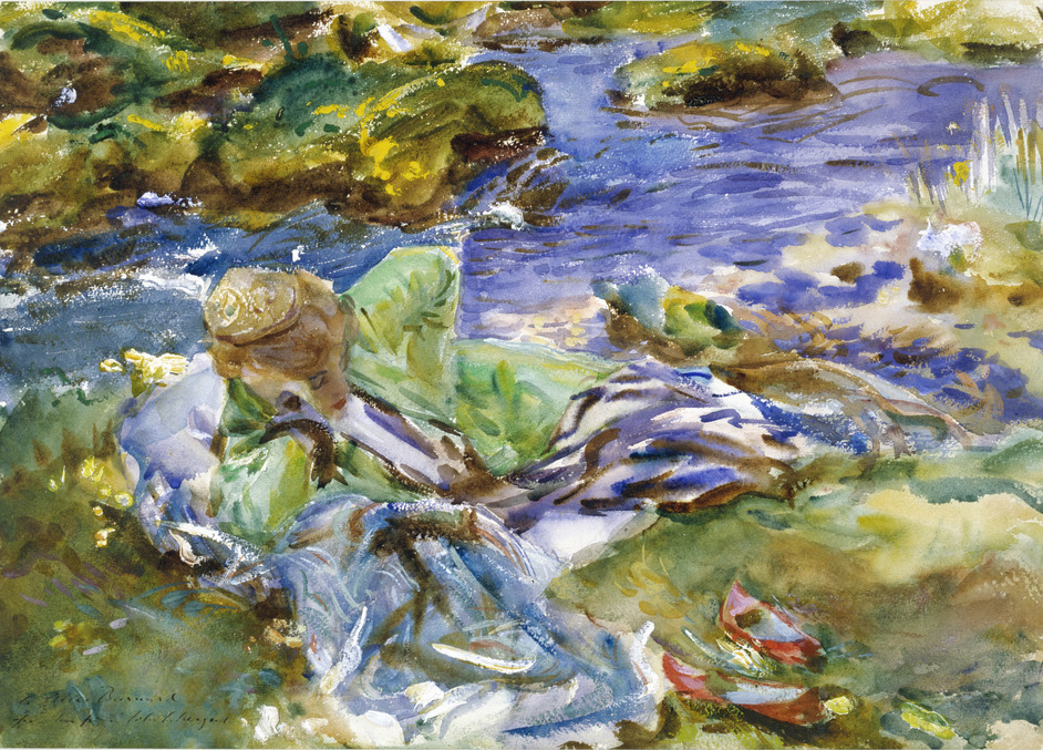 Sargent: The Watercolours - John Singer Sargent, A Turkish Woman by a Stream (c) Victoria and Albert Museum, Lon