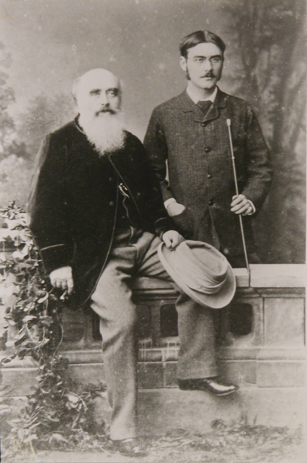 Lockwood Kipling: Arts and Crafts in the Punjab and London - Lockwood Kipling with his son Rudyard Kipling (c) National Trust, Charles Thomas