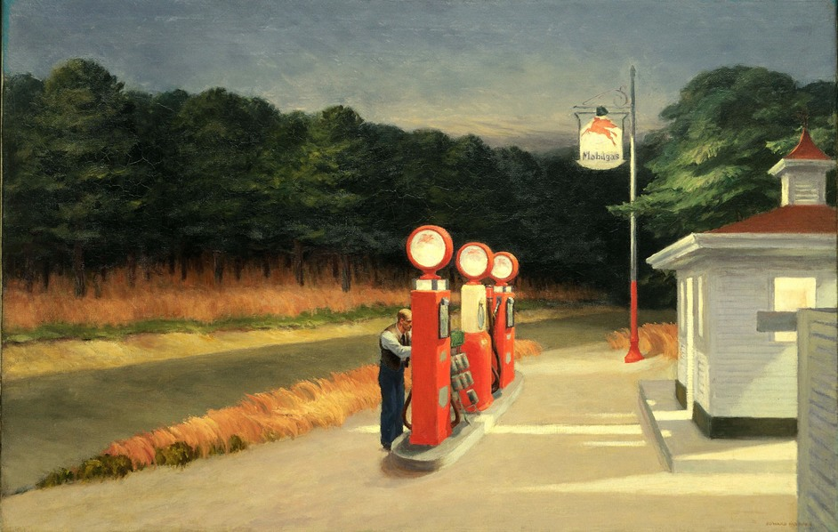 America After The Fall: Painting In The 1930s - Edward Hopper, Gas 1940 Photo (c) 2016 Digital image The Museum of Modern Art