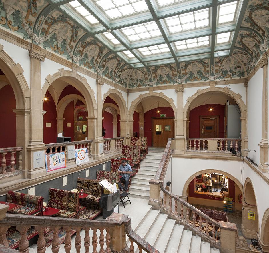 Battersea Arts Centre (BAC) - Battersea Arts Centre, marble stairs, photo: Morley Von Sternberg
